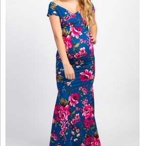 ⭐️HOST PICK ⭐️ Floral Off Shoulder Maternity Dress